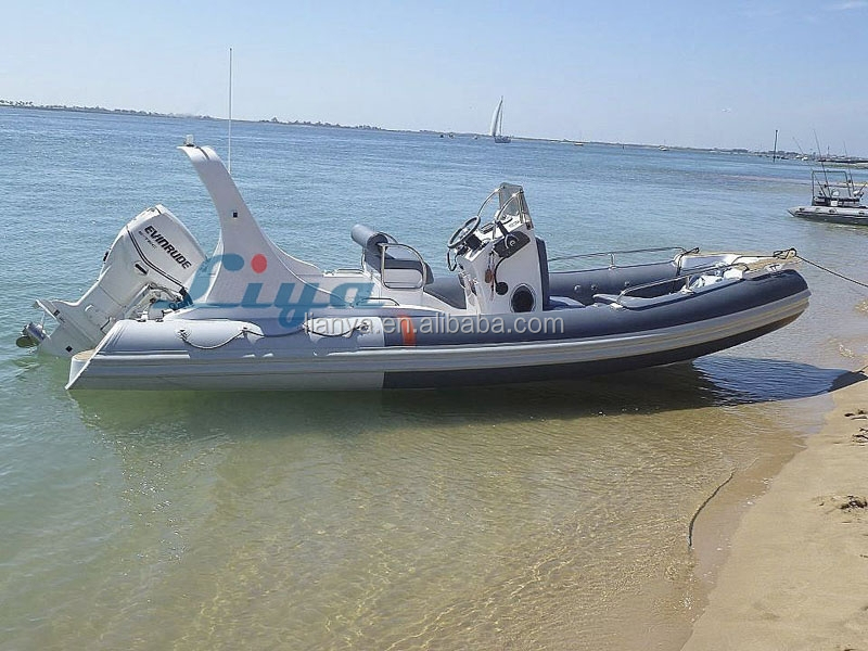 Liya 20ft Rigid Hull Fiberglass Inflatable Boat For Sale Fiji ...