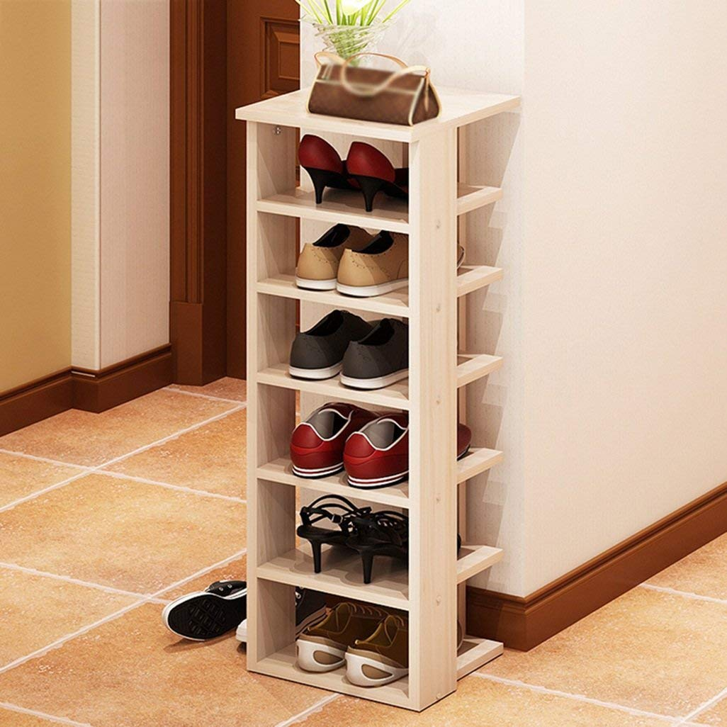 AJZGF Multi-storey wooden racks, household assembled dust storage shelves, simple storage racks. - Shelf shoes (Color : #1)