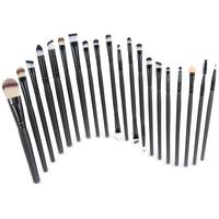 Professional 20pcs custom cosmetic brushes natural hair eyeshadow eyeline foundation powder blush makeup brush set