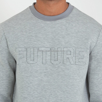 87a5b4184 Embossing letter cotton stylish pullover jumper embossed logo hoodie  sweatshirt