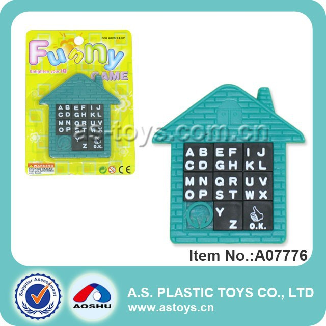 7CM ABC Sliding plastic games puzzle
