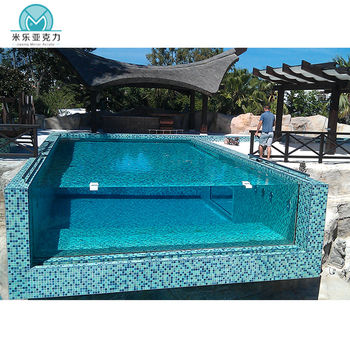China factory wholesale custom acrylic glass swimming pool