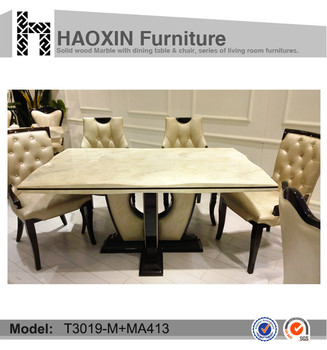 Restaurant Pvc Table Base Marble Top Dining Table For Sale View