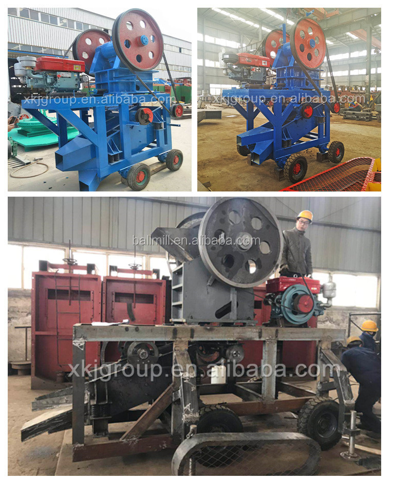 aggregate aggregate jaw crusher With Diesel Engine