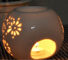 High quality ceramic electricity aroma lamps christmas oil burners