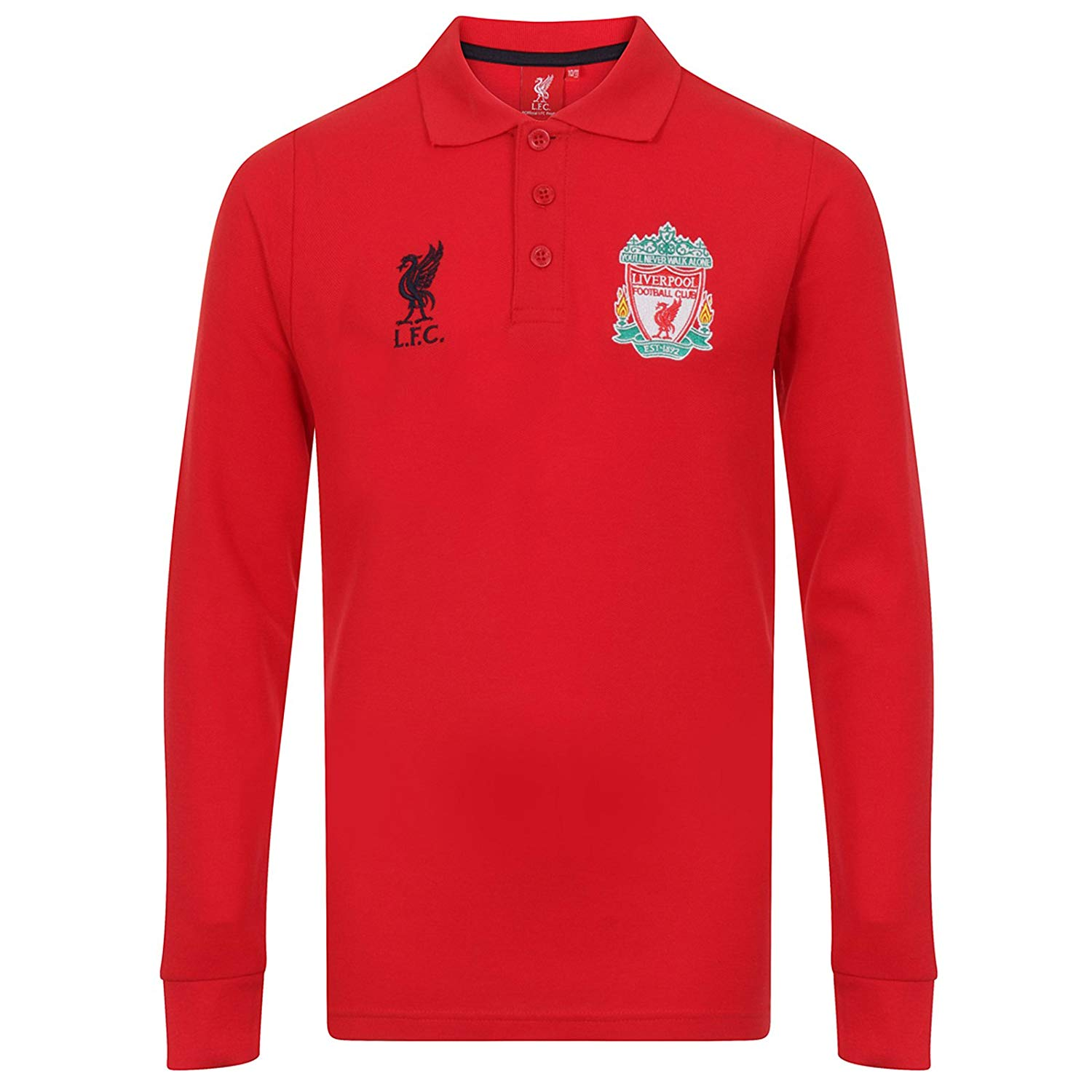 47027f548 Get Quotations · Liverpool Football Club Official Soccer Gift Boys Long  Sleeve Polo Shirt