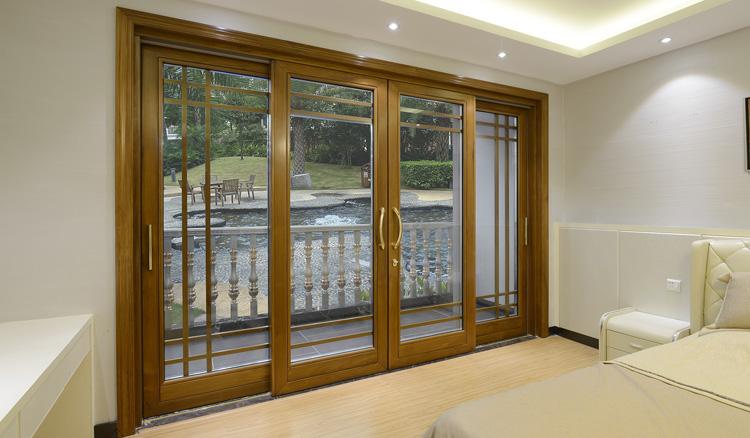 New Style Balcony Wood Clad Aluminum Sliding Door China Supplier ...