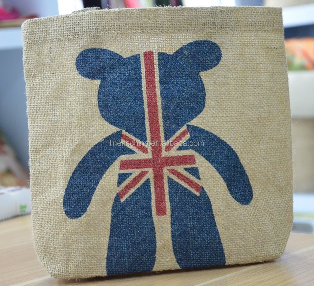 custom jute bag wine bag handicraft, nature jute bag for printing