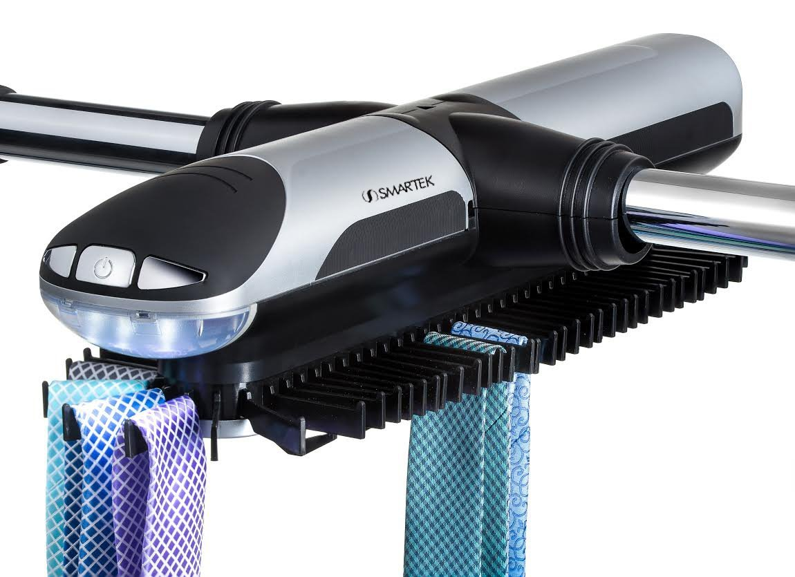 Get Quotations · Smartek ST 800 Motorized Tie Rack Closet Organizer With  Built In LED Light Fits More
