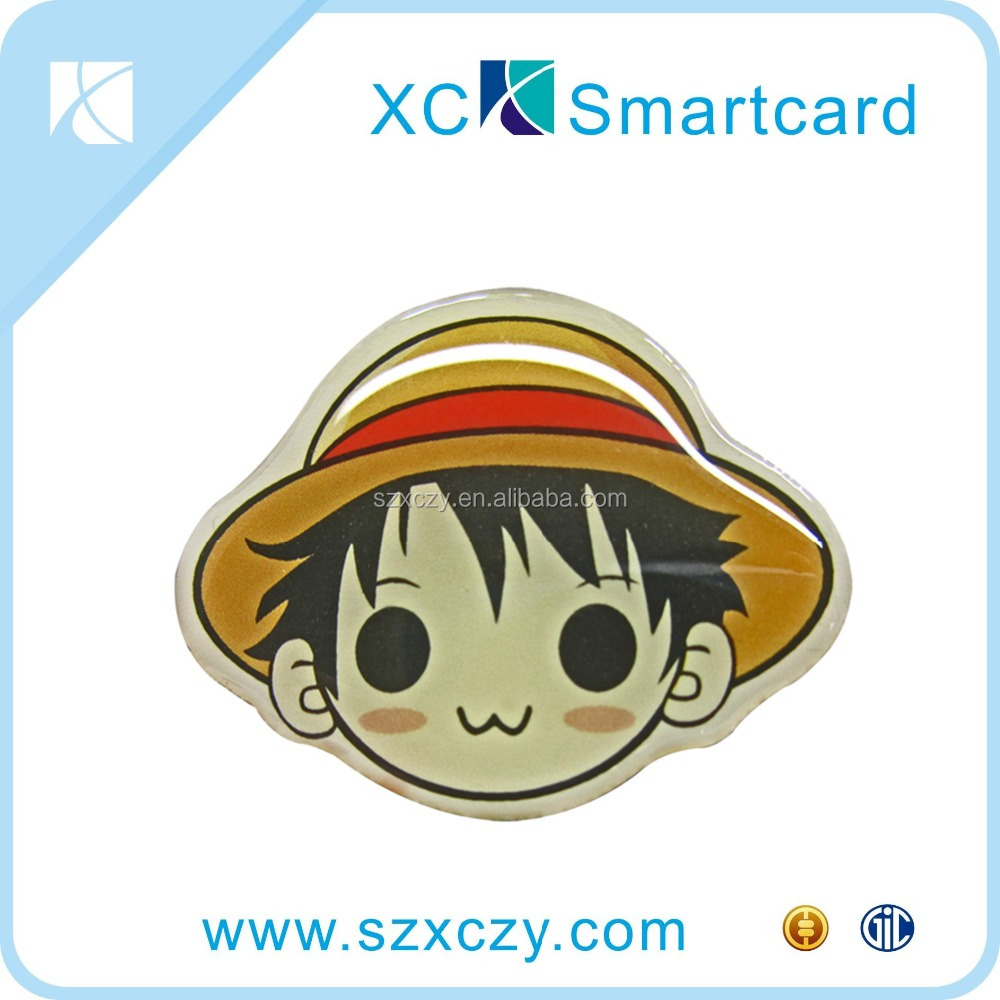 Cheap Customize Epoxy Cartoon Greeting Tag Rfid Card NFC Epoxy Card