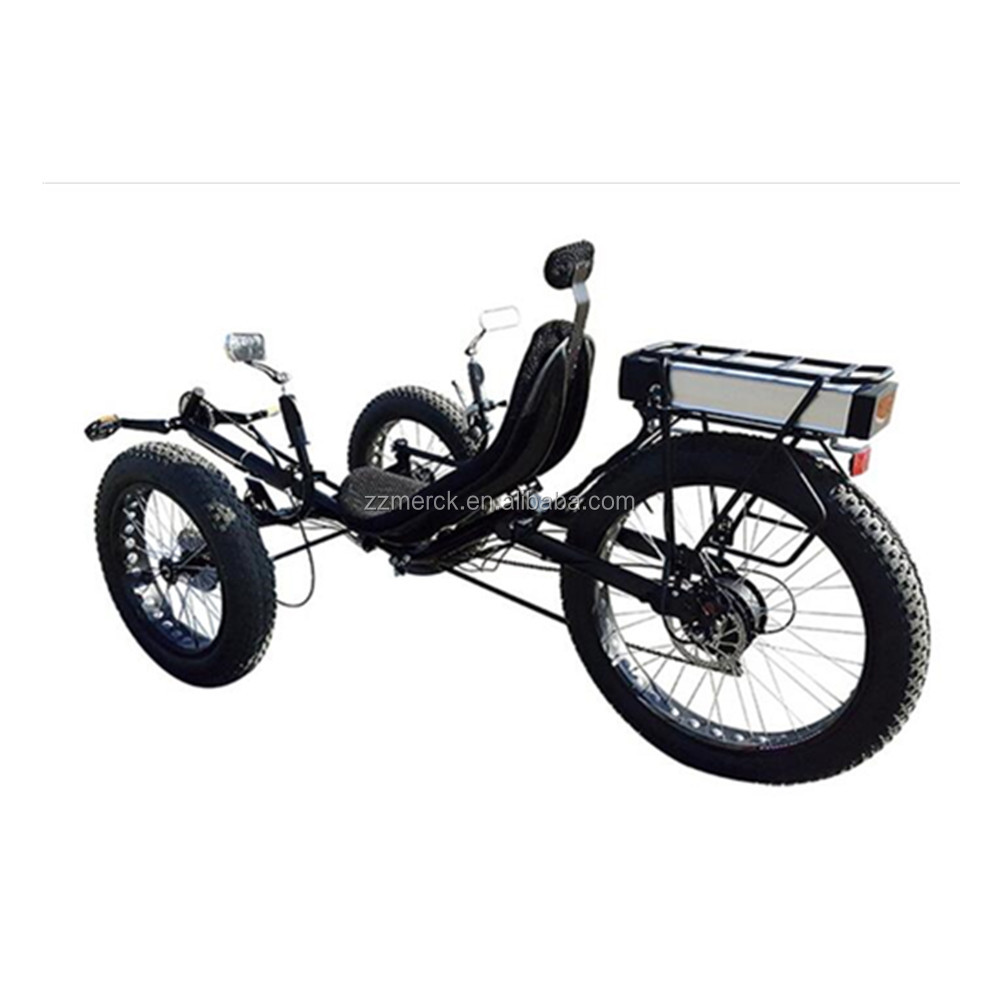 DAPU 500W Motor Fat Tire Three Wheel Electric Recumbent <strong>Bike</strong> With 48v 20ah Lithium Battery