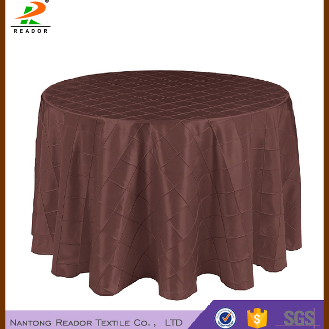 108 In. Pintuck Tablecloth Round,banquet Table Cover,table Linen/wedding  Table