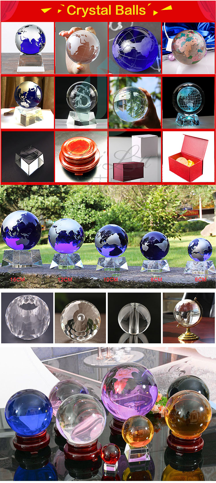 Wholesale Decoration red round Rotating display Wooden Stand Wood Base For k9 Crystal glass Balls Sphere