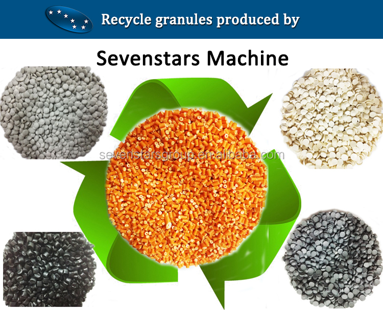 CE certified 500 kg/h recycling plastic pelletizing plastic granulator line waste plastic recycle machine price
