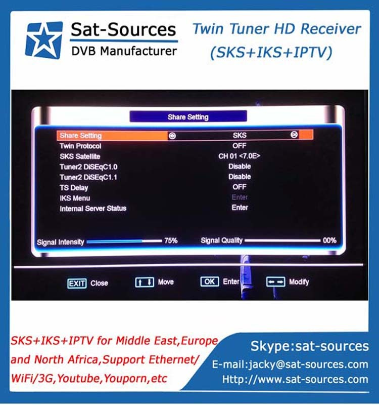 Hd Middle East Iks Sks Receiver With Starmax A100 Plus Very Stable Server  Gshare - Buy Gshare,Iks Sks Tv Receiver,Starmax A100 Plus Product on