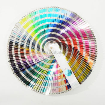 cmyk pantone color guid atlas color chart for metallic gold and silver cardboard