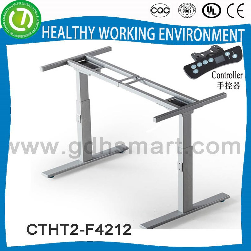 Mamoudzou height adjustable desk set & electirc automatic control height table base