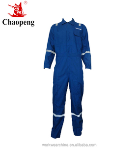 Top quality men work wear Dupont nomex blue coverall with fire retardant
