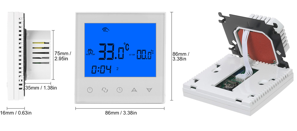 HY03WE-2 Programmable Room Thermostat/ดิจิตอล Room Thermostat controller ปรับอุณหภูมิ