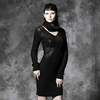 2015 Gothic New Fashion Unique Design Dark Sexy Crochet Knitted Sweaters M-027