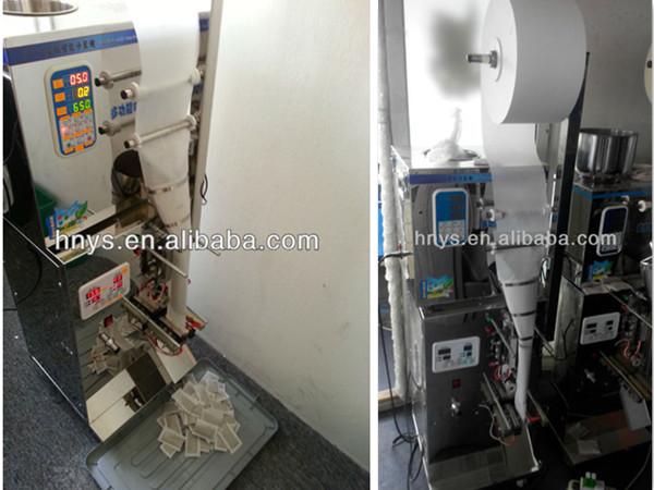 Cheaper 5-50g automatic three sides sealing flour and chili powder packing machine