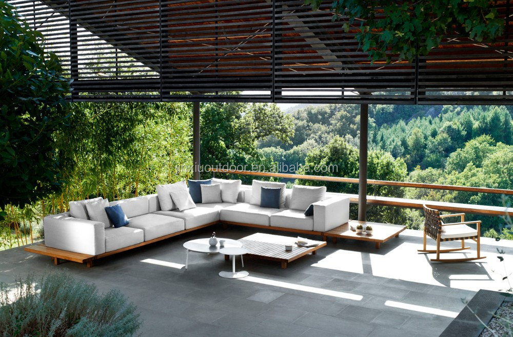 Luxury wooden teak outdoor sofa project outdoor garden for Outdoor furniture europe