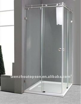 90 degree square frameless tempered glass sliding shower for 90 sliding patio door