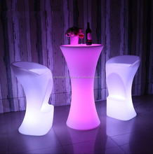 Top quality waterproof color changing acrylic led bar stool for bar