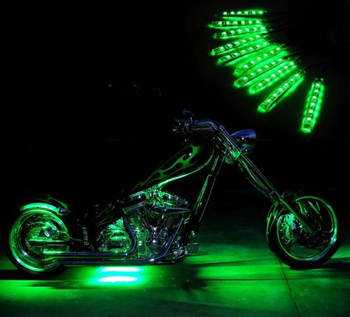 Hoge Kwaliteit 10 stks Motor LED Accent Strip Llighting Motorbike ...