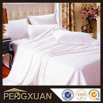 Soft And Comfortable White Spa Bed Sheets With Design Logo