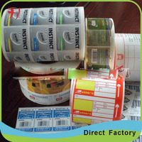 color printing vinyl sticker paper,waterproof adhesive cosmetic label stickers