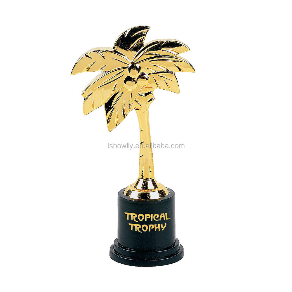 2017 High Quality Hot Sale Jumbo Gold Assembled Personalized Customized Plastic Award Trophy Souvenirs