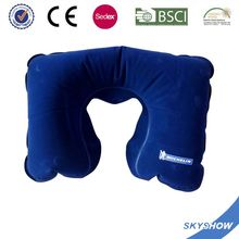 Customized Promotional pvc inflatable neck pillow