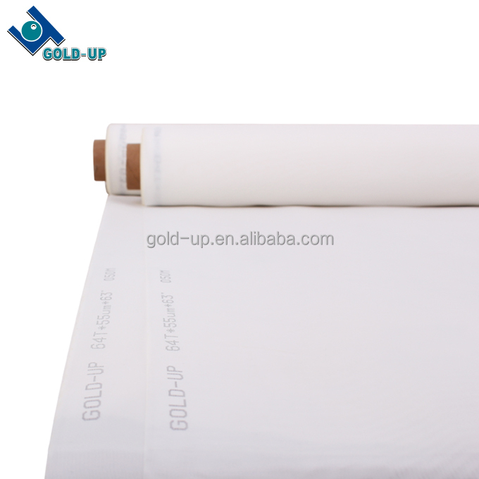 polyester silk screen printing mesh for procelain /cloth/ PCB printing from Gold-up