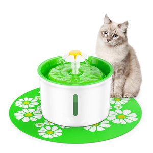 Flower Shape Automatic Cat Water Fountain Active Carbon Filters Pet Fountain