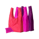 Recycled eco waterproof cheap folding polyester nylon shopping bag with pouch