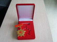 Golden flashing China Military Medal red army memorial