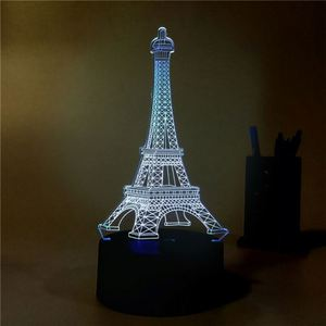 custom Ring 3d led illusion night lamp 7 color changing light