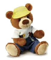 Boyfriend Mechanic Teddy Bear dressed in his Mechanic outfit