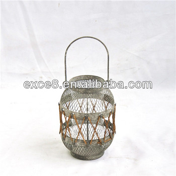 Round Vintage Hanging Wire Lanterns