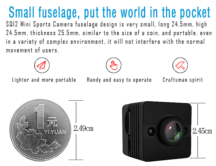 Night Vision Mini DV camera Outdoor camcorder Voice Video Recorder Mini thermal camera HD 1080P