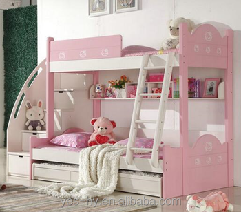 Bunk Bed 3 Beds Cheap Kids Furniture Pnik Girl S Bed A15 Buy Kids