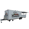 Customized bbq pizza fast food mobile kitchen trailer with fully equipped