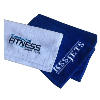 100% cotton GYM towel with custom logo embroidered