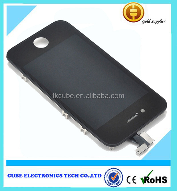 Replacement LCD Touch Screen Digitizer Glass Assembly for <strong>iPhone</strong> 4 4S Black &White with frame