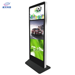 55inch Standalone lcd vertical display led digital signage Android network advertising player kiosk on wheels