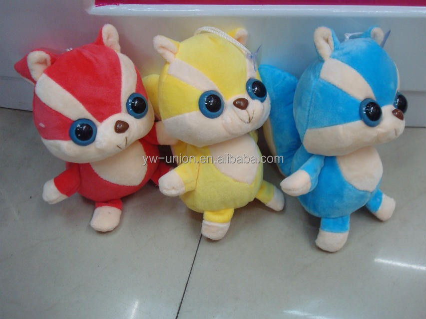 Amusement park coin machine stuffed toys animals / funny made plush toys