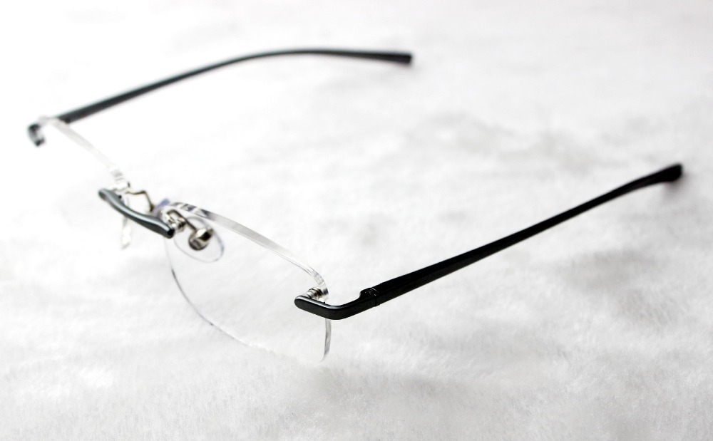 36458d4454e Get Quotations · 1pcs Stylish Design Men Women Reading Glasses Temple  Rimless Frameless Presbyopic Glasses with Crystal Case Free