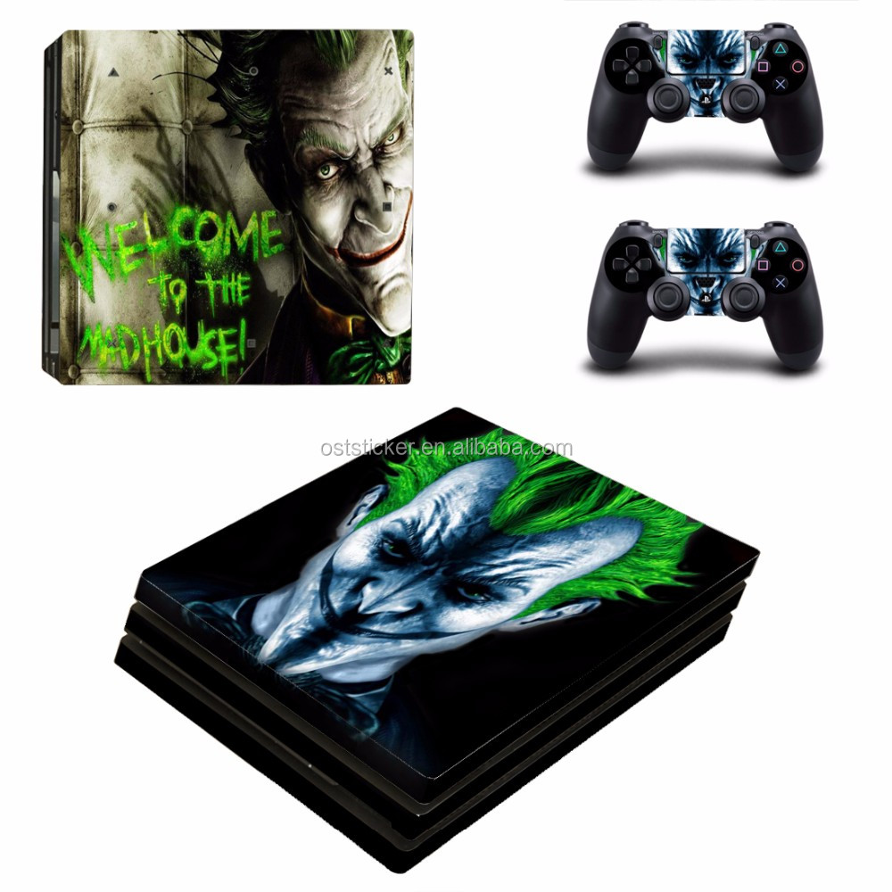 Vinyl skin sticker for sony playstation 4 ps4 pro skins wrap for console and controller