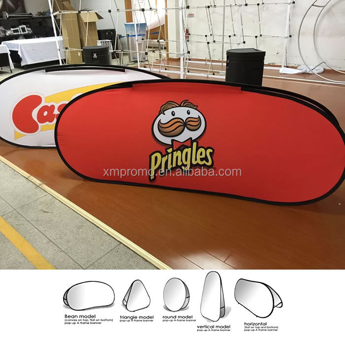Outdoor advertising folding portable Pop Up A frame sign